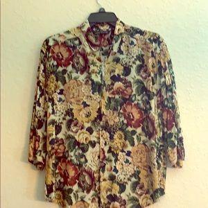 Zara lightweight floral blouse